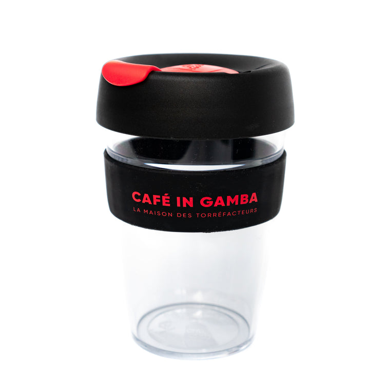KeepCup IN GAMBA en plastique - bouchon rouge, , Caffè in Gamba - Caffè in Gamba