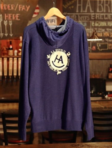 Hooded Sweat Shirt in Navy Heather