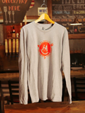 Men's 100% Cotton Long Sleeve in Heather Gray