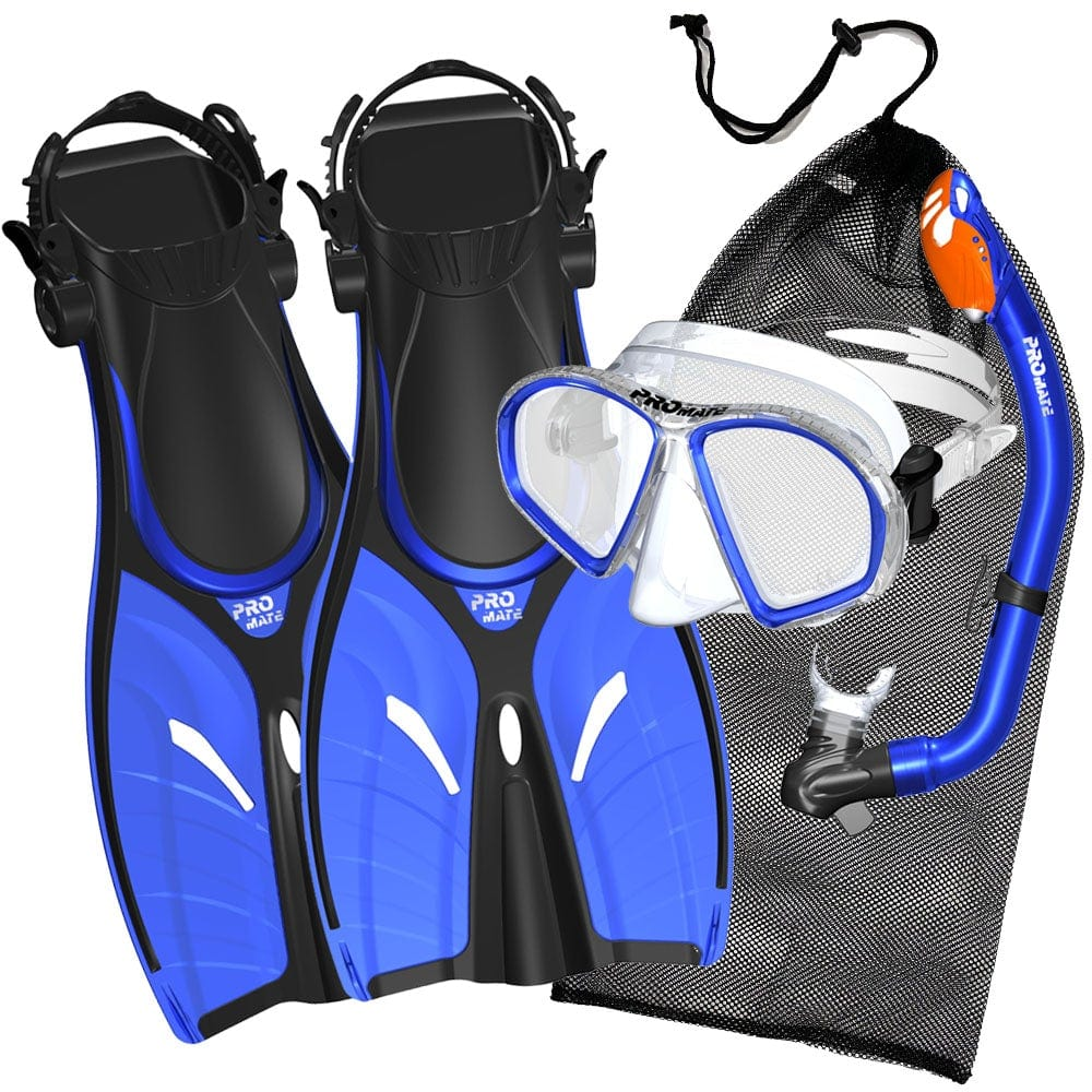 Promate Spectrum Youth Snorkel Combo Set with Snorkeling Fins - SCS0098