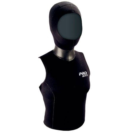 Promate 5/3mm Women's Hooded Vest for Scuba Dive, Snorkeling - DS352