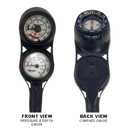 Promate Mini Pressure & Depth Gauge with Compass Gauge Console, Dual Dial - MG040