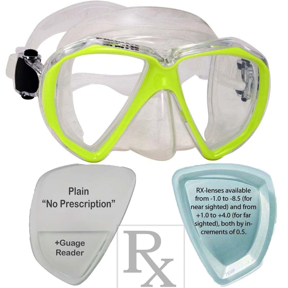 Promate Fish Eyes R/X Prescription Scuba Dive Snorkeling Mask - MK260 RX