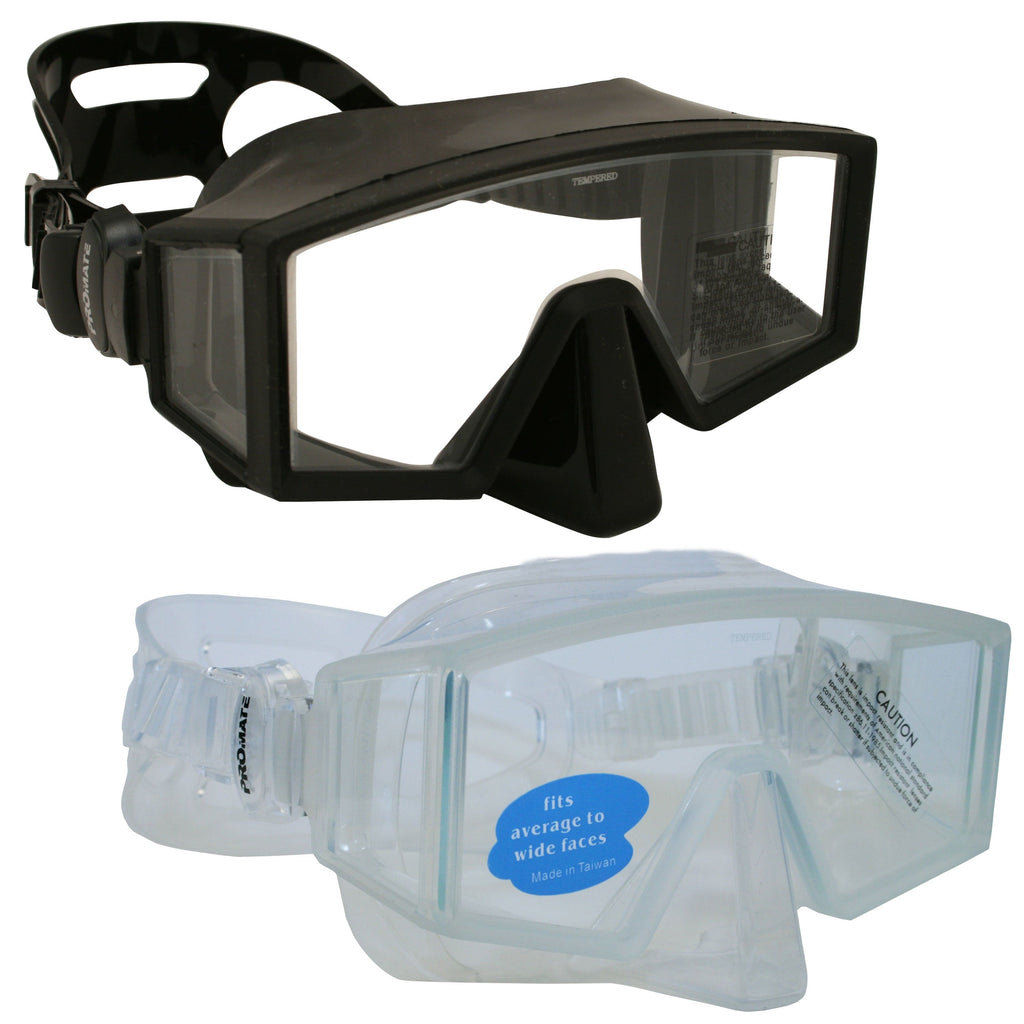 Promate Hammerhead Tri-view Frameless Scuba Dive Spearfishing Mask - MK350