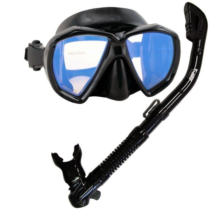 Scuba Dive DRY Snorkel Snorkeling Mask  w/ COLOR CORRECTION Lenses Combo Set - SCS0031V