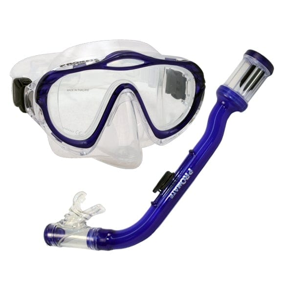 Junior Snorkeling Scuba Dive PURGE Mask DRY Snorkel Gear Set for kids - SCS0035
