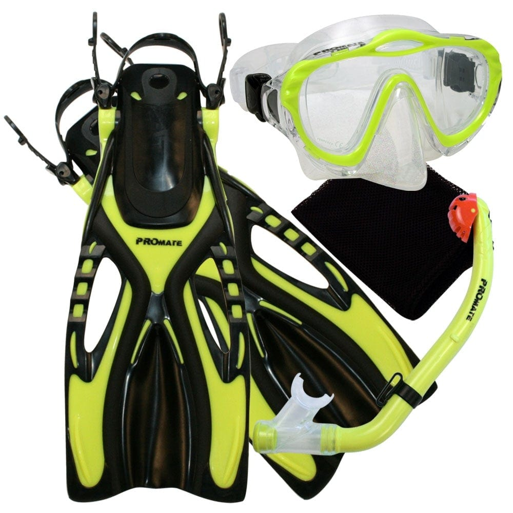 Junior Snorkeling Scuba Diving Mask DRY Snorkel Fins Set for kids - SCS0040
