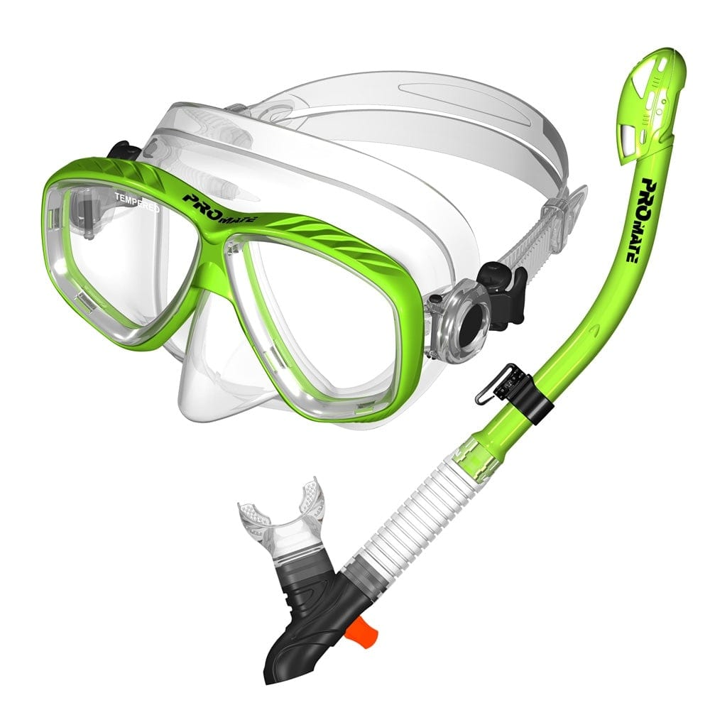 PROMATE Snorkeling Scuba Dive Mask with Dry Snorkel Set - SCS0093