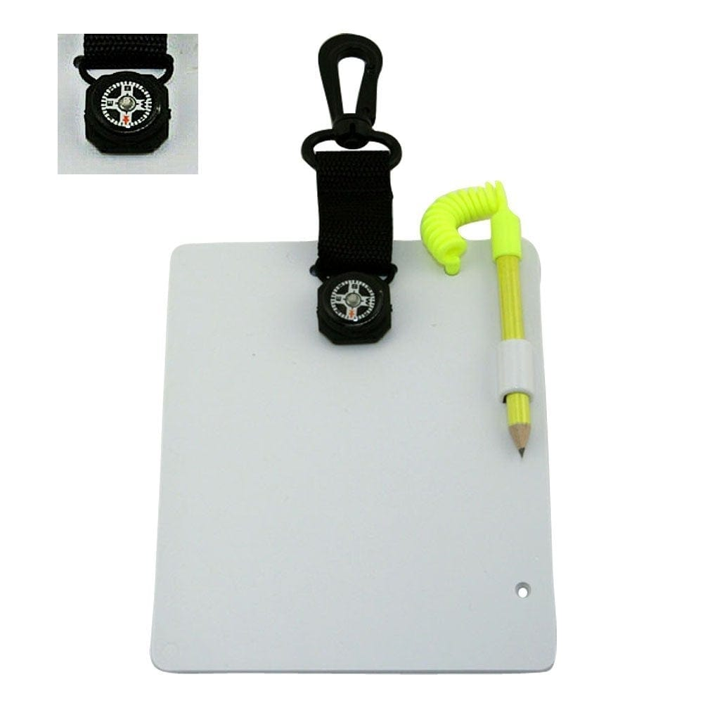 "Promate 7"" * 6"" Underwater Writing Slate for Scuba Dive with Compass - Large - WS077"