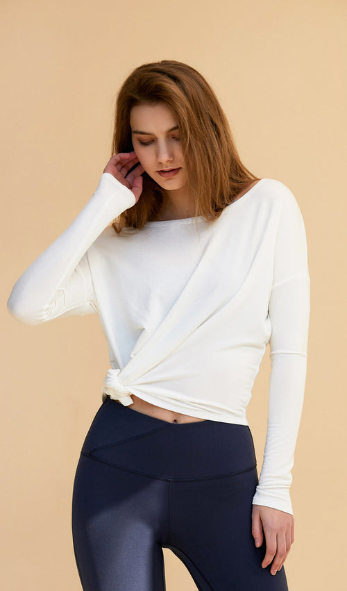 Long Sleeve Caroline - White
