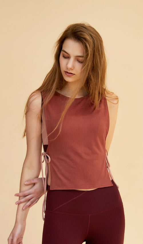 Reversible Tank Top - Cherry/Light Pink