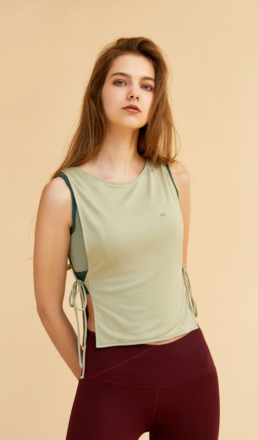 Reversible Tank Top - Green/Army Green