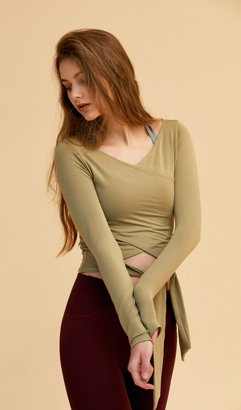 Long Sleeve Hailey - Olive Green