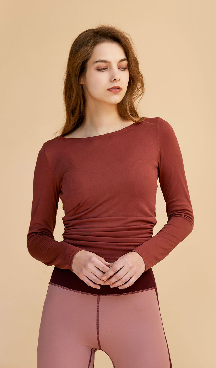 Long Sleeve Alaiya - Cherry