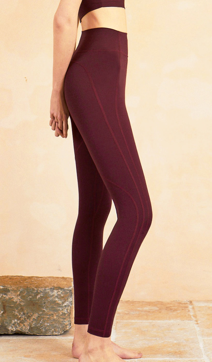 Yoga Pants Lyla - Dark Red