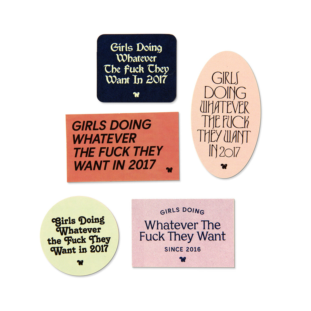 Girls Doing Whatever Stickers
