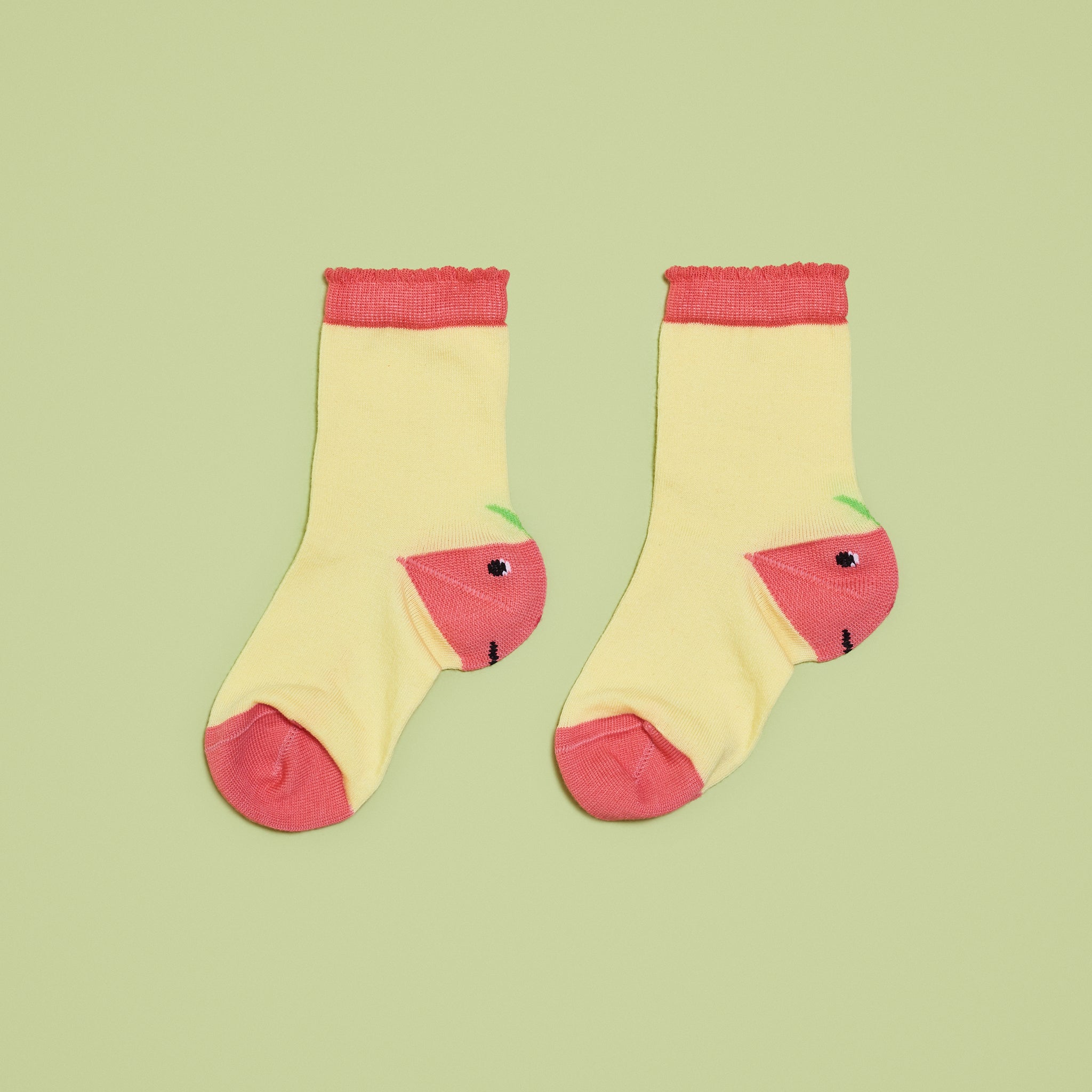 Yellow Colorblock Toddler Socks