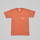 Casual Business Woman Pocket Tee - Rust