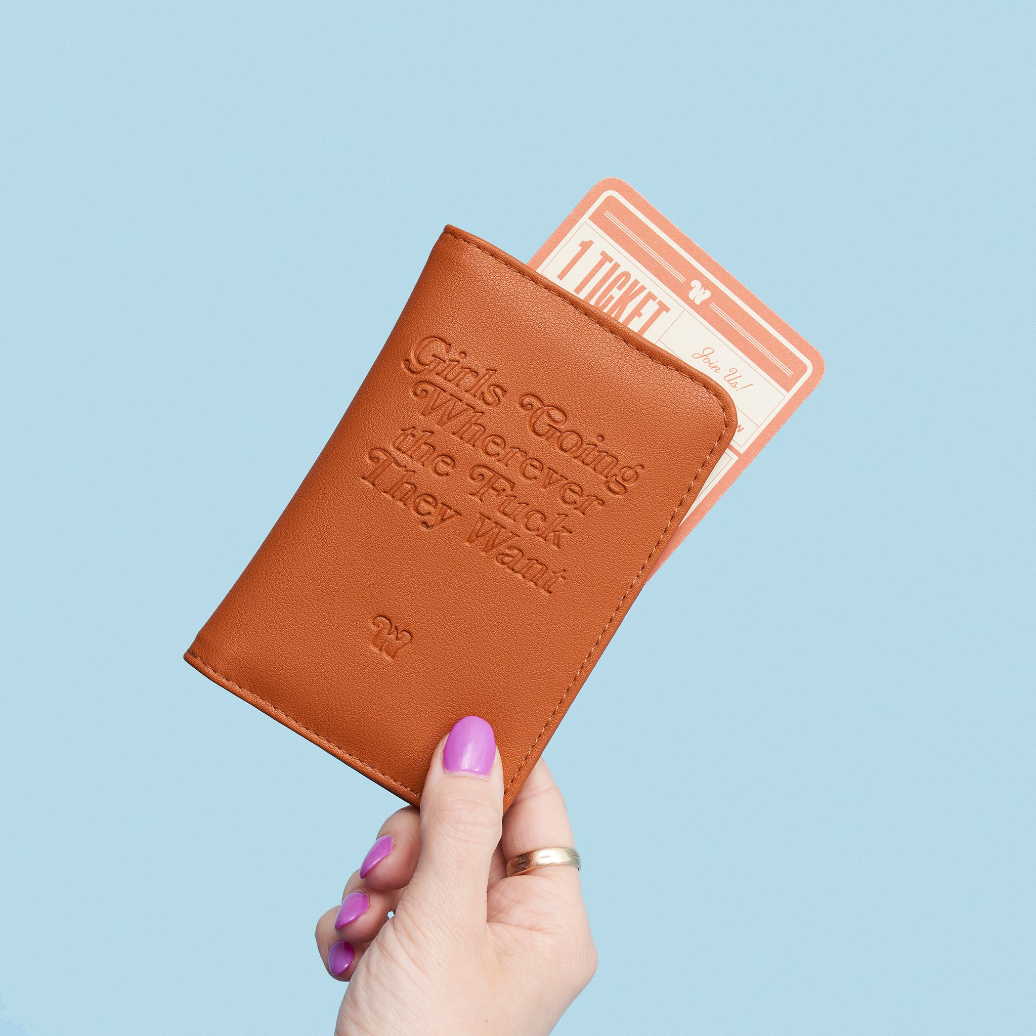 Girls Going WTF Passport Holder