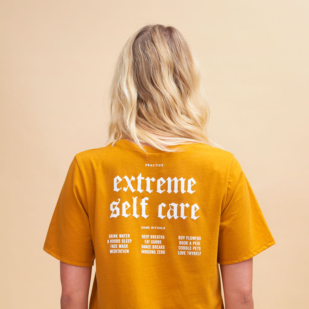 Extreme Self Care Tee in Mustard
