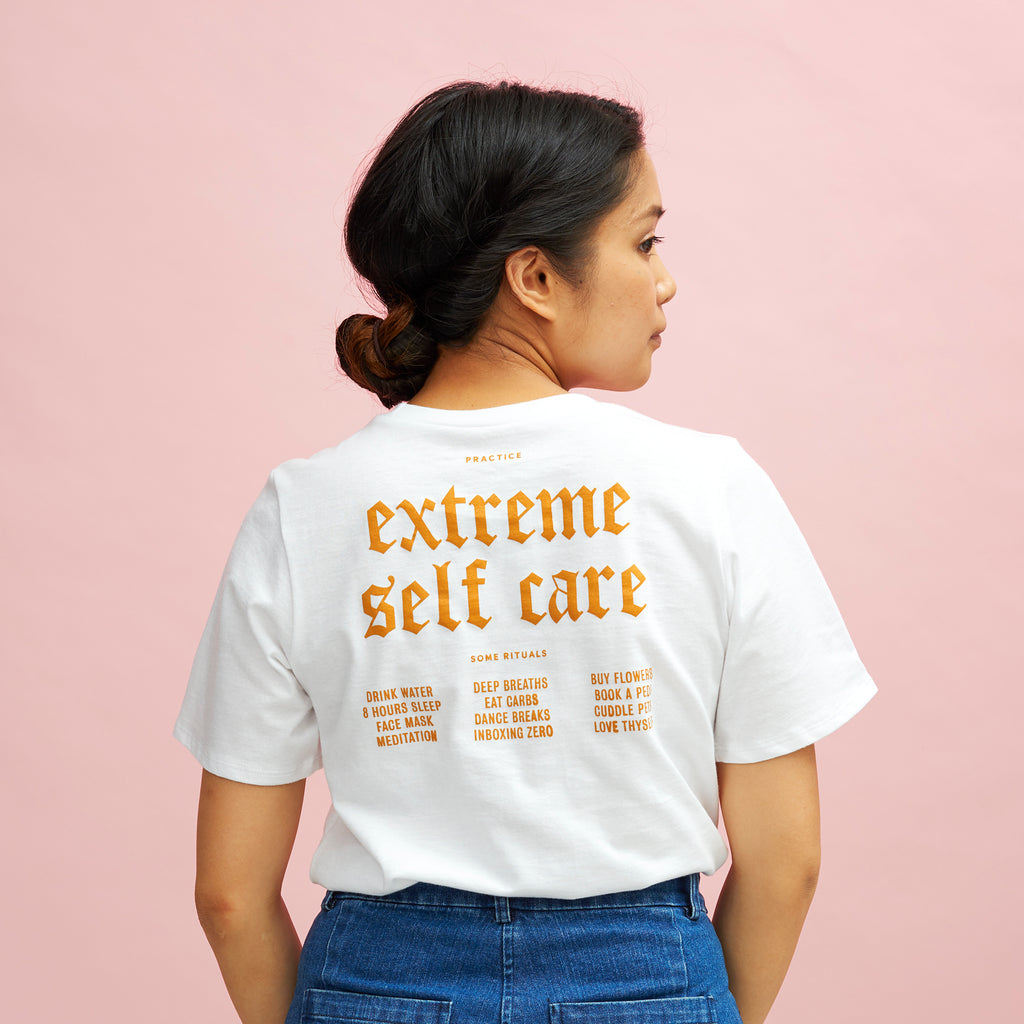 Extreme Self-Care Tee in White | Online Exclusive