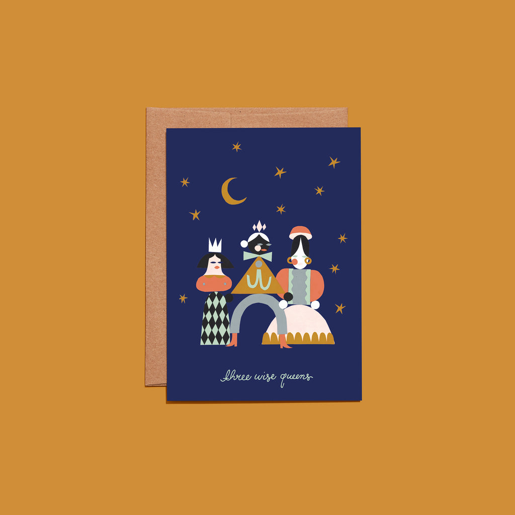 Three Wise Queens - Holiday Greeting Card