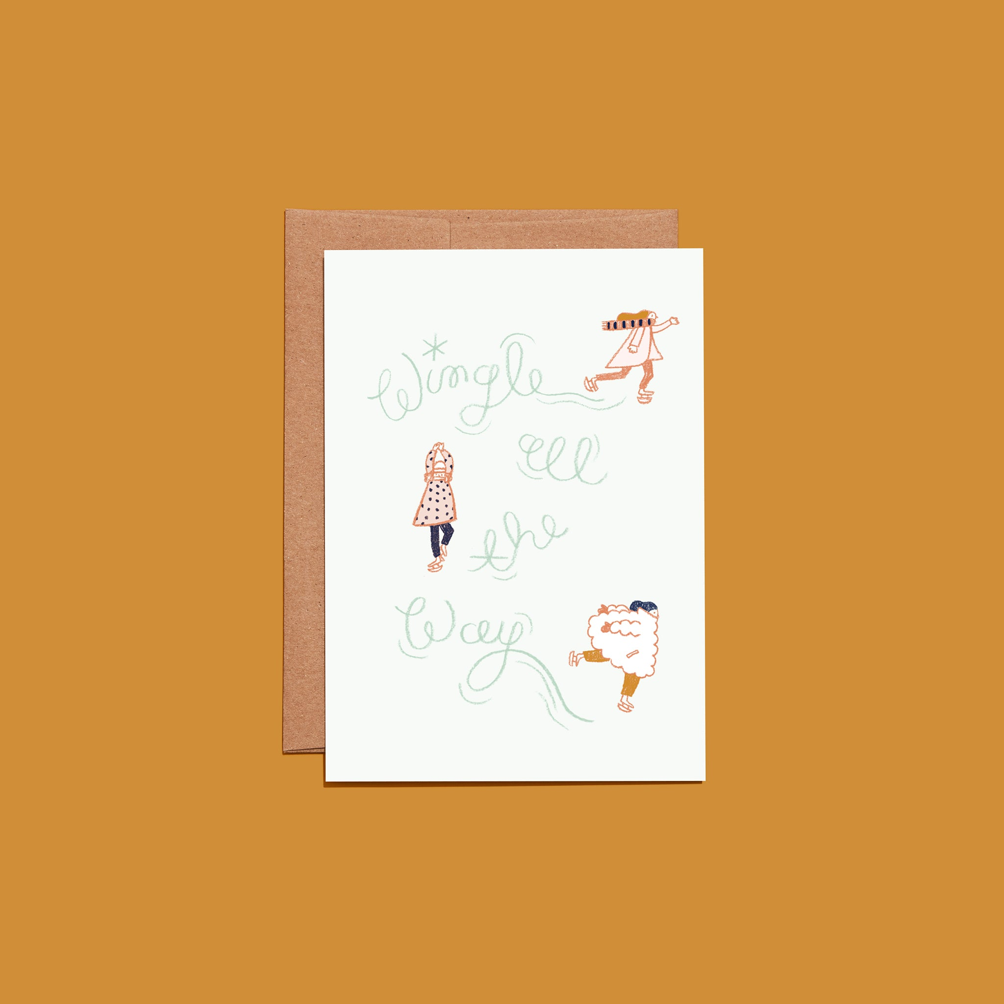Wingle all the way holiday greeting card the wing store wingle all the way holiday greeting card m4hsunfo