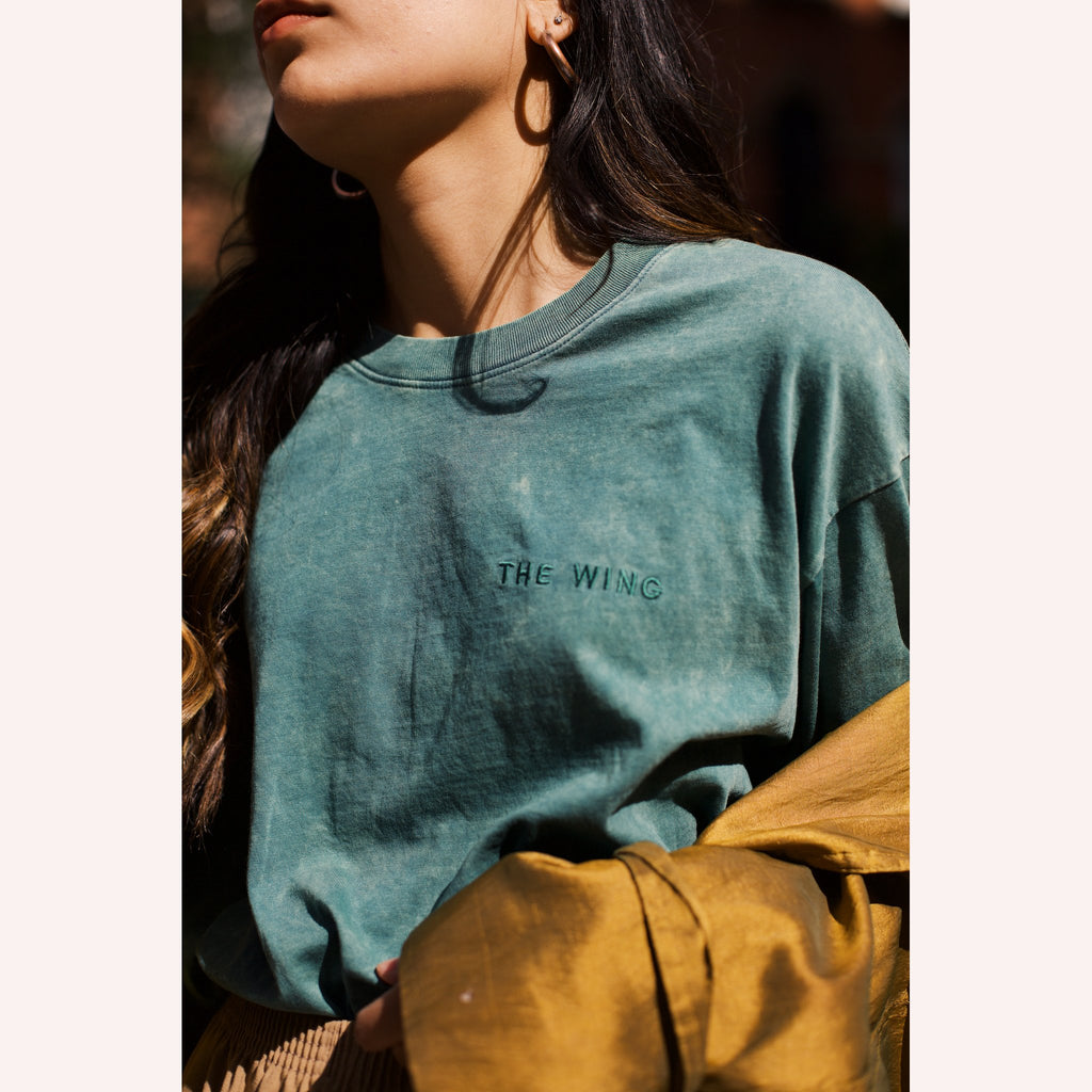 The Wing Mineral Wash Long-Sleeve Tee