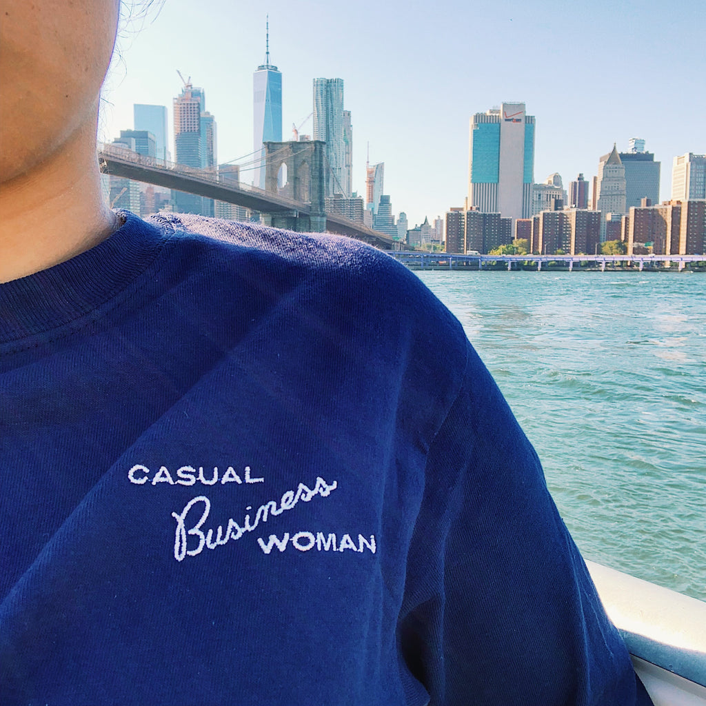 Casual Business Woman Long Sleeve Tee