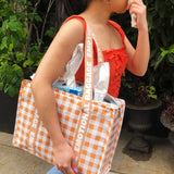 Emotional Baggage Gingham Tote