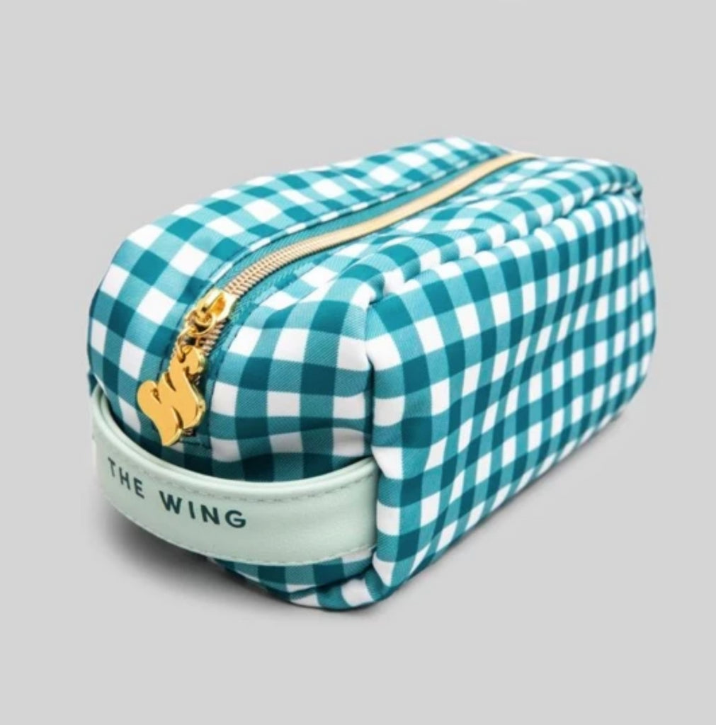 Gingham Toiletry Bag
