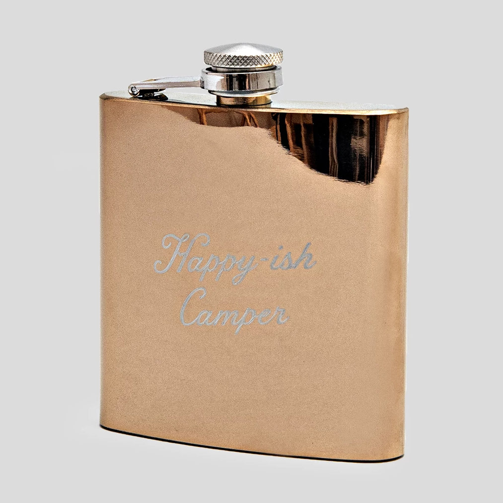 Happy-ish Camper Flask