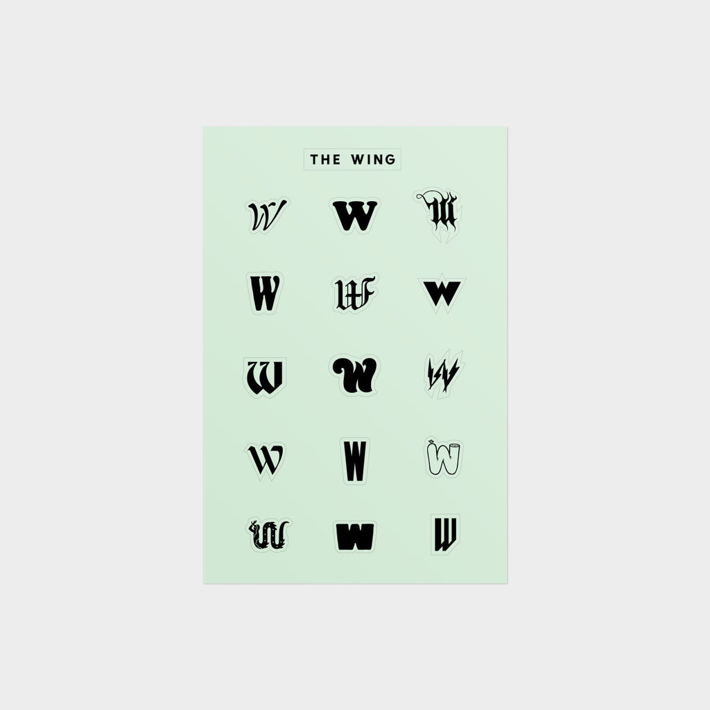 """W"" Multitudes Sticker Sheet"