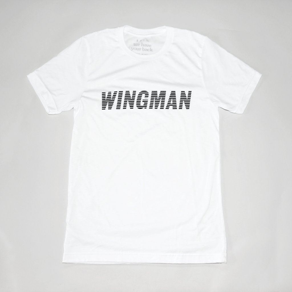 Wing Man Tee in White