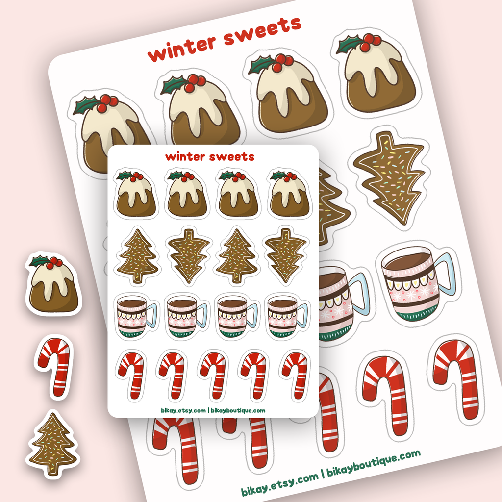 Christmas Sweets Sticker Sheet