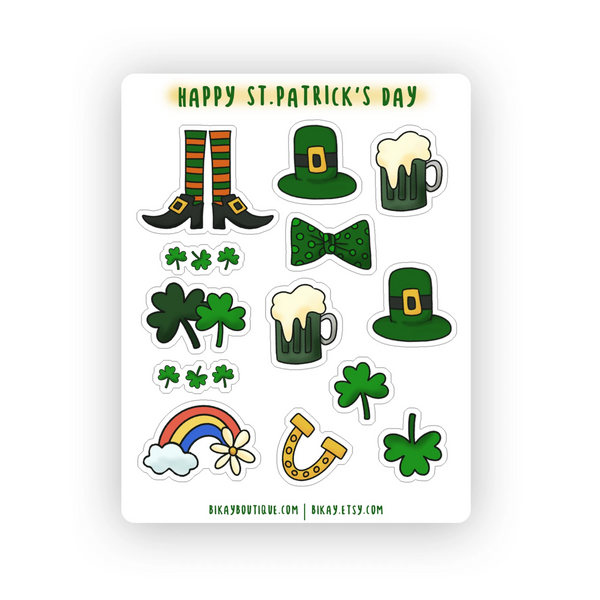 Happy St.Patrickts Day Sticker Sheet