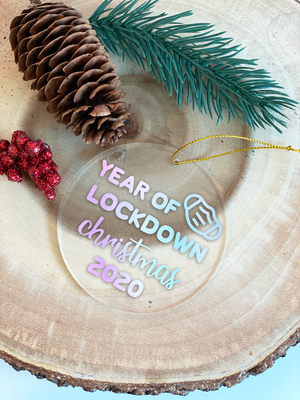 Year of Lockdown Christmas Ornament