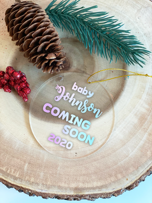 Baby Announcement christmas Ornament
