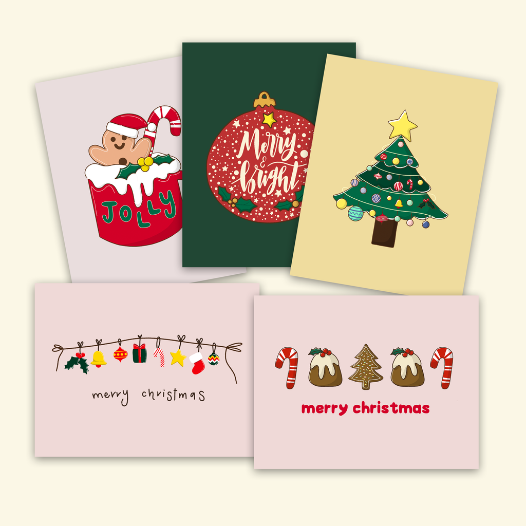 Assorted Christmas Card Pack (Set of 10 boxed cards)