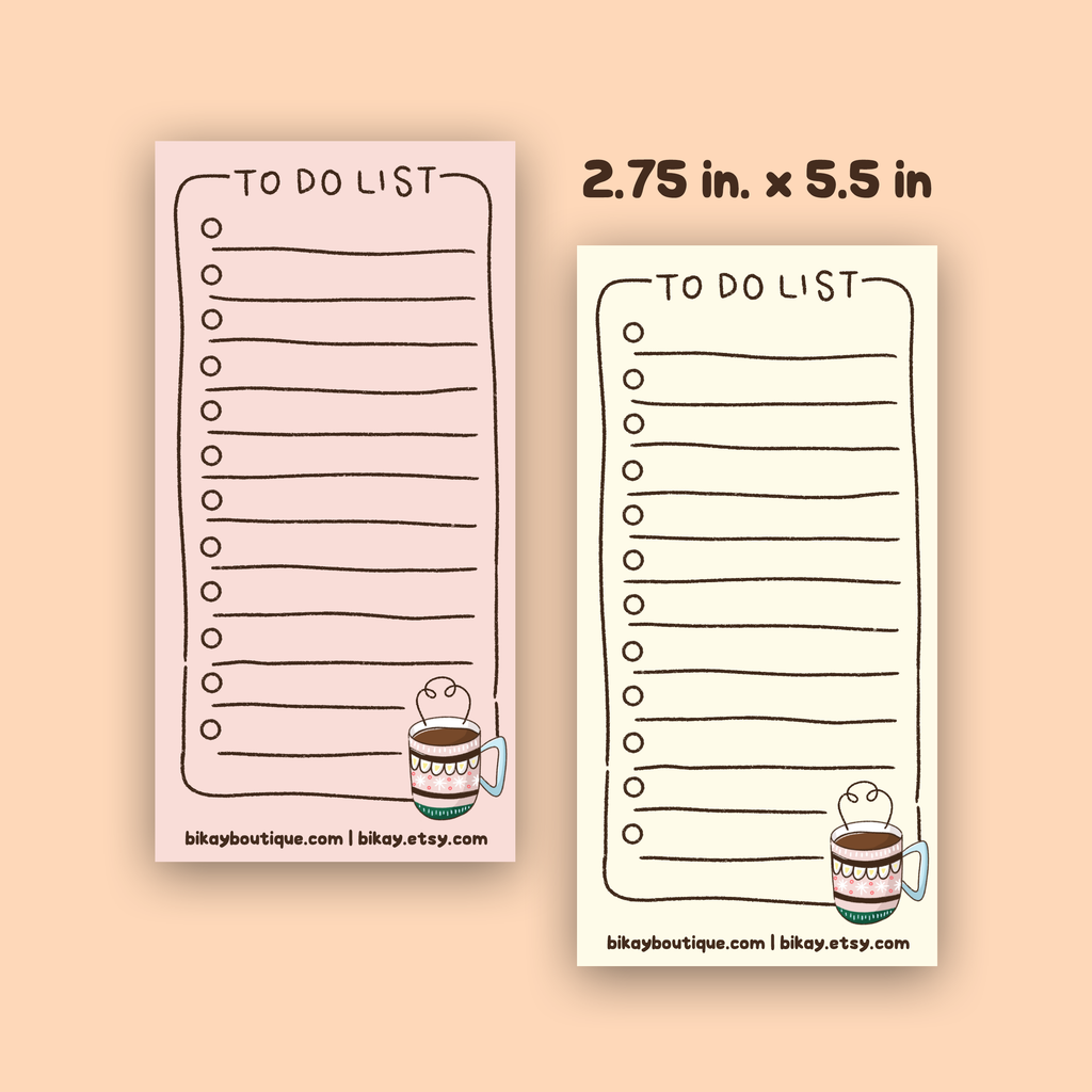 Coffee To Do List Notepad
