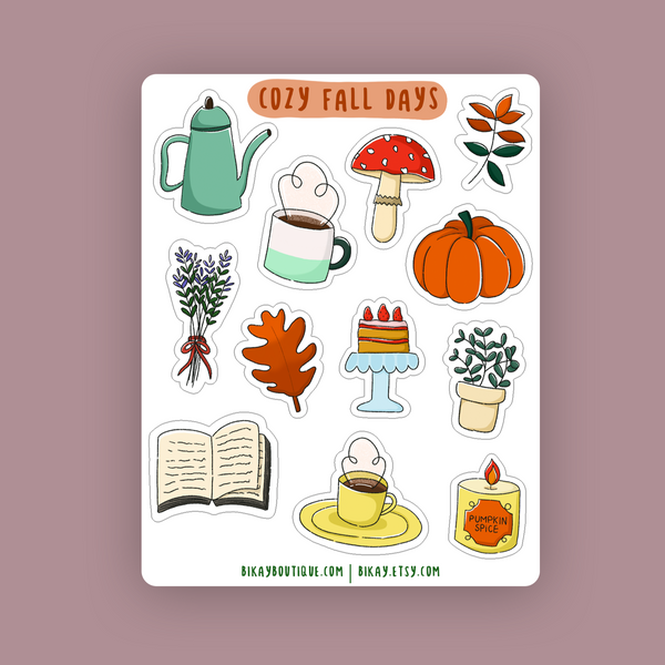 Cozy Fall Days Sticker Sheet