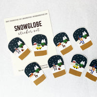 snow globe winter stickers