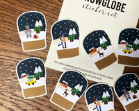 Cozy Snow Globe Stickers
