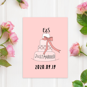 Customizable Wedding Cake Card