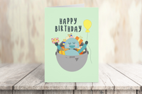 Robot Happy Birthday Card