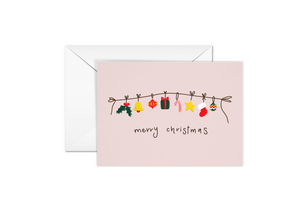 Merry Christmas Boxed Card (Single or Card Pack)