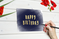 Foiled Happy Birthday Card