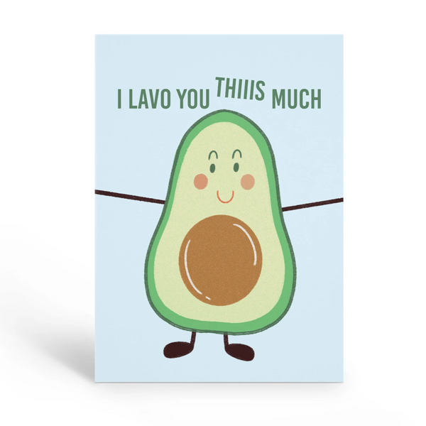 I Lavo You Valentines Day Card