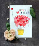 Love is in the air Anniversary Card