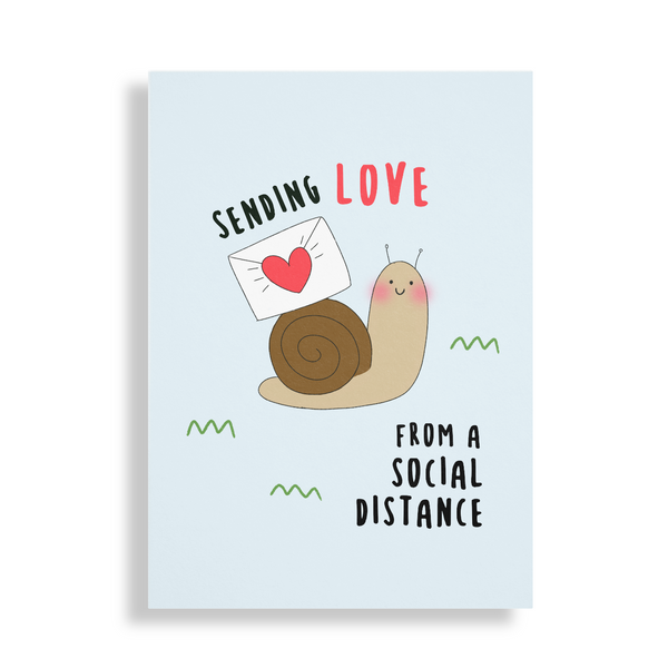 Snail mail Sending Love Social Distancing Card